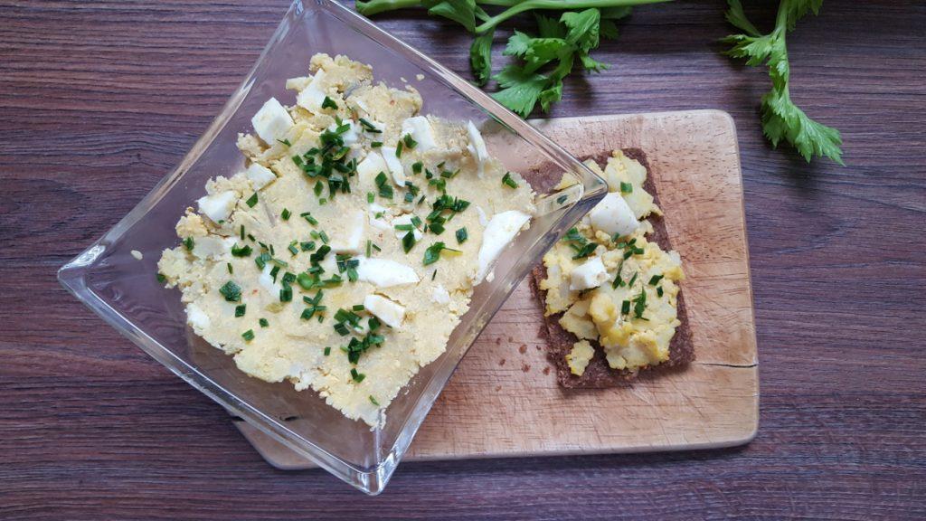 vegetarischer Brotaufstrich Kartoffel-Ei-Creme