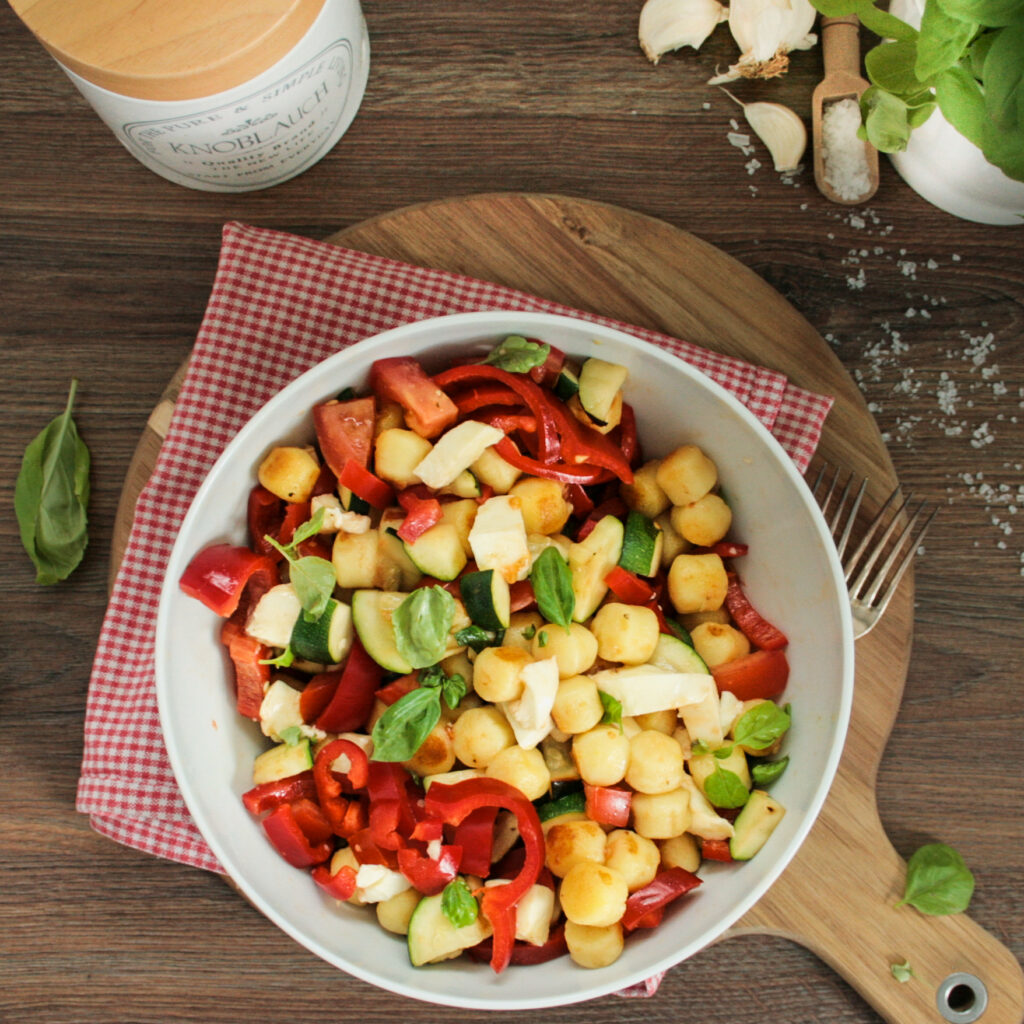 Gnocchi Salat mit Paprika
